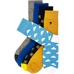 Blue weather socks pack