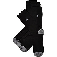 Black landmark icon socks