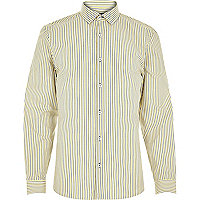 Yellow navy stripe shirt