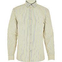 Yellow navy stripe shirt