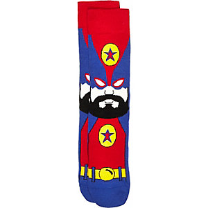 Red wrestler hero socks