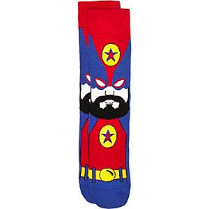 Red wrestler hero socks
