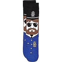 Navy policeman character socks