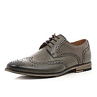 Grey formal brogues