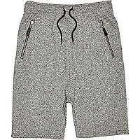 Grey drop crotch shorts