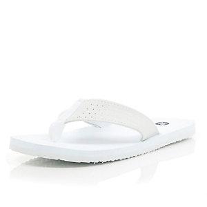 White plain flip flops