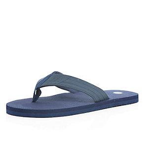 Navy plain flip flops