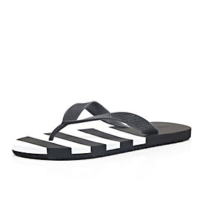 Black stripe flip flops
