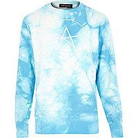 Blue Antioch tie dye logo sweatshirt