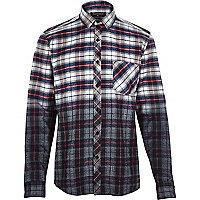 Red Antioch dip dye check shirt