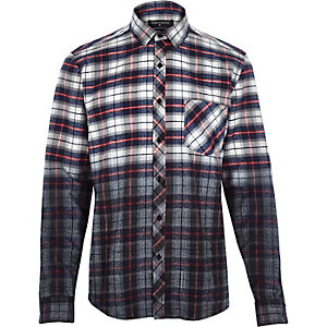 Red Antioch dip dye check shirt