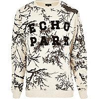 Ecru Echo Park print sweatshirt