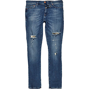 Dark wash ripped Danny superskinny jeans