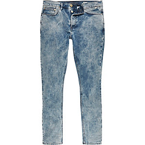 Light acid wash Eddy skinny stretch jeans