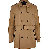 Brown smart trench coat
