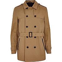 Brown smart trench coat