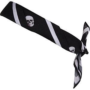 Black skull print bandana