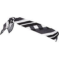 Black gingham print bandana