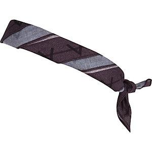 Black tattoo print bandana