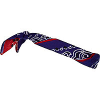 Red and blue two tone bandana