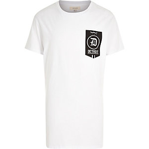 White short sleeve Detroit print t-shirt