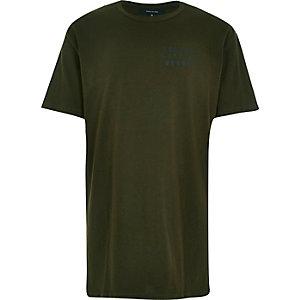 Green Seattle print longer length t-shirt
