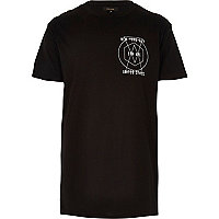 Black New York print crew neck t-shirt