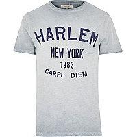 Grey Harlem carpe diem print t-shirt