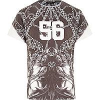 Grey chain print t-shirt