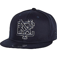 Navy NYC flatpeak hat