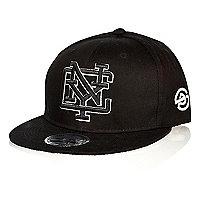 Black NYC flatpeak cap