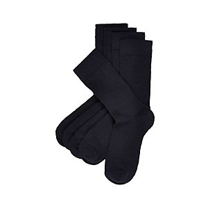Navy plain socks pack