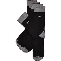 Black gentleman icon socks 5 pack