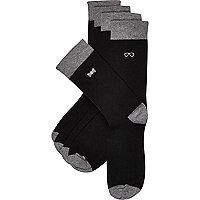 Black gentleman icon socks 5 pack