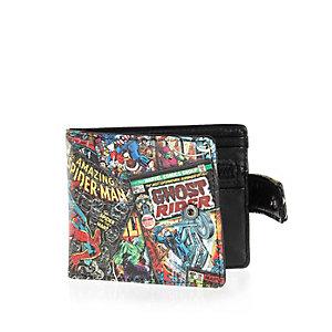 Black Marvel print wallet