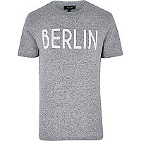 Grey Berlin print neppy t-shirt