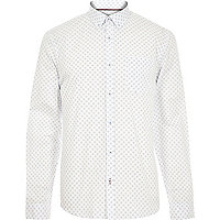White cross print shirt
