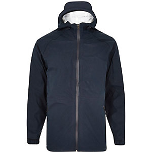 Navy Bellfield rain proof windrunner jacket