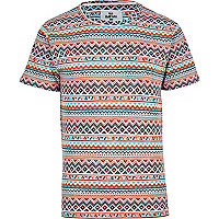 Orange Bellfield tribal print t-shirt