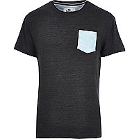 Grey Bellfield pool print pocket t-shirt