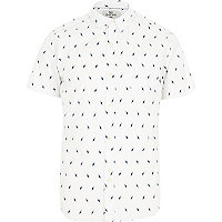 White Bellfield lightening print shirt
