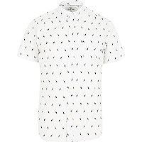 White Bellfield lightening print shirt