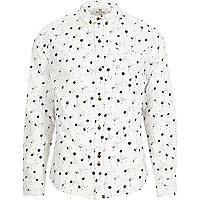 White Bellfield dandelion print shirt