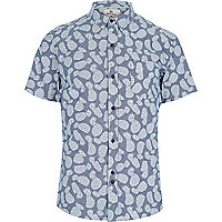 Blue Bellfield pineapple print shirt