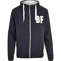 Navy Bellfield BF college hoodie