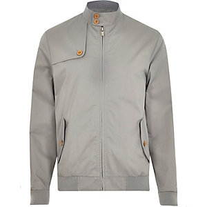Grey casual harrington jacket