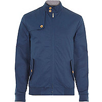 Blue casual harrington jacket