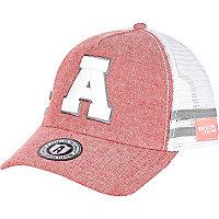 Pink American Freshman A trucker cap