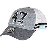 Blue American Freshman chambray snapback cap