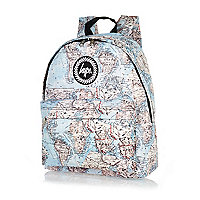 Blue Hype map print backpack